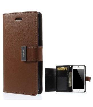Goospery Goospery Luxe PU Leren Wallet iPhone 6(s) plus - Bruin
