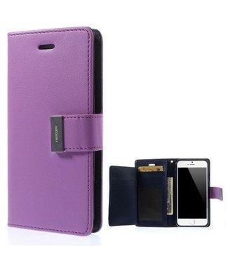 Goospery Goospery Luxe PU Leren Wallet iPhone 6(s) plus - Paars
