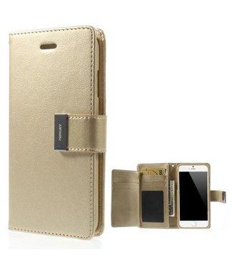 Goospery Goospery Luxe PU Leren Wallet iPhone 6(s) plus - Goud