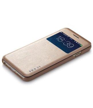 Rock Rock PU Leren Kijkvenster Wallet iPhone 6(s) plus - Champagne Goud