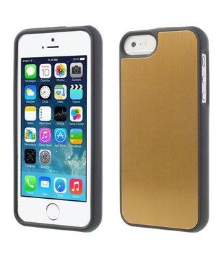 Aluminium Geborsteld  iPhone 5/5S Case Goud