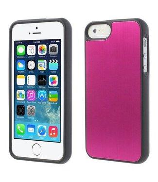 Aluminium Geborsteld  iPhone 5/5S Case Roze