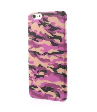 ZWC Glow In Dark PC Hardcase iPhone 6(s) plus - Roze Camouflage
