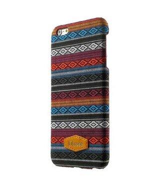 ZWC Dirose PC/Stof Hardcase iPhone 6(s) plus - Oranje/Grijs/Zwart
