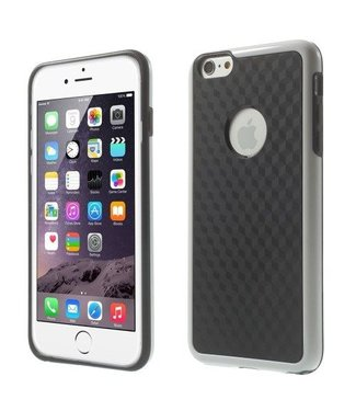 ZWC Cube PC/TPU Softcase iPhone 6(s) plus - Zwart/Wit
