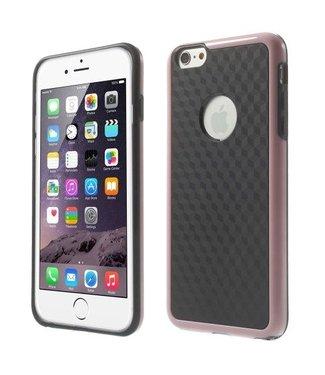TVC Cube PC/TPU Softcase iPhone 6(s) plus - Zwart/Roze
