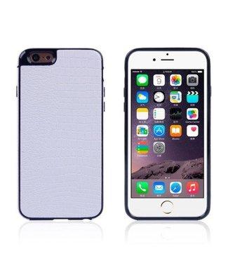 TVC Crocodile TPU/PU Leren Softcase iPhone 6(s) plus - Wit