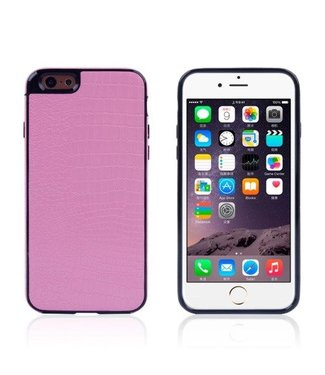 ZWC Crocodile TPU/PU Leren Softcase iPhone 6(s) plus - Roze