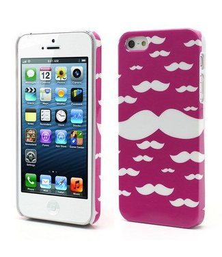 Icarer Crazy Mustache iPhone 5 (2016) Roze