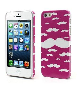 Icarer Crazy Mustache iPhone 5 Roze