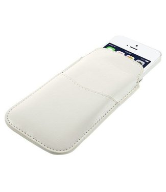 Icarer Leren insteekhoes iphone 5/5S en 5C wit