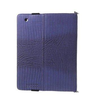 ZWC PU Lederen Hoes voor iPad 2,3,4- Paars