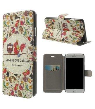 Uilenserie PU Leren Wallet Parfum iPhone 6(s) - Baby Uiltjes