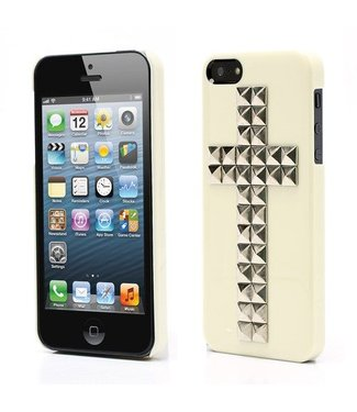 Icarer Back cover cross iPhone 5 - geel