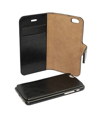 Mjoy 2-in-1 Wallet Mjoy iPhone 5(s)/SE (2016) - Zwart