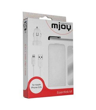 Mjoy Mjoy 5 in 1 Pakket Met Flipcase iPhone 6(s) - Wit