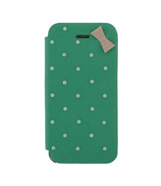 Mjoy Booklet Lucy Mjoy iphone 5(s)/SE 2016 - Blauw/groen