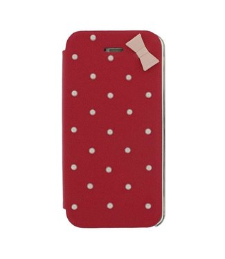 Mjoy Booklet Lucy Mjoy iphone 5(s)/SE 2016 -Rood/roze