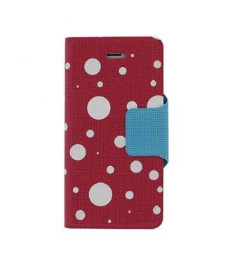 Mjoy Funline Mjoy Dots Iphone 5(s)/SE -Roze/wit