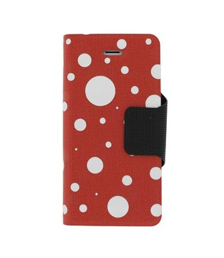 Mjoy Funline Dots Mjoy Iphone 5(s)/SE -Rood/wit
