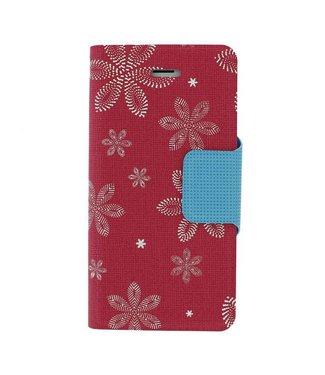 Mjoy Funline Flowers Mjoy Iphone 5(s)/SE- Roze/Wit