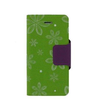 Mjoy Funline Flowers Mjoy Iphone 5(s)/SE - Groen/Wit