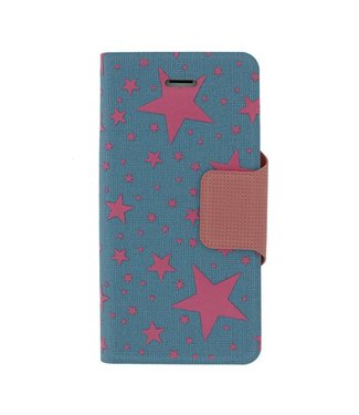 Mjoy Mjoy Funline Stars Iphone 5/5s Blauw/Roze