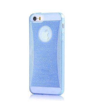 Devia DEVIA glitter TPU iPhone 5(s) / SE 2016 Case - blauw transparant