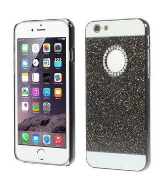Mjoy Bling Poeder Hardcase iPhone 6(s) - Zwart