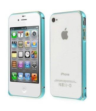 Bumper iphone 4/4s Aluminium - blauw