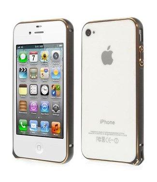 Bumper iphone 4/4s Aluminium - zwart