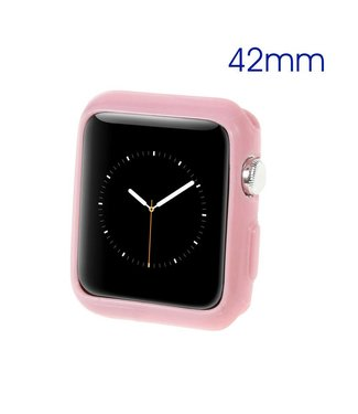 ZWC Apple Watch Beschermende Gel Cover (42mm) - Roze