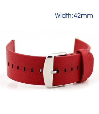 ZWC Apple Watch lederen band (42mm) - Rood