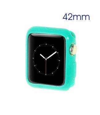 ZWC Apple Watch Beschermende Gel Cover (42mm) - Cyaan