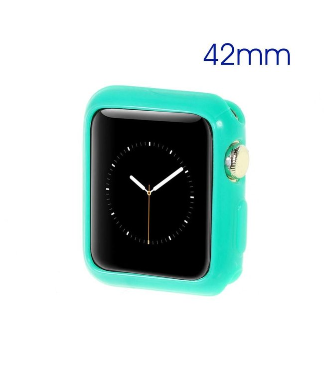 ZWC Apple Watch Beschermende Gel Cover (42mm) - Cyaan