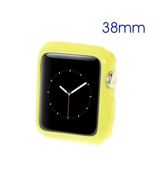 ZWC Apple Watch Beschermende Gel Cover (38mm) - Geel