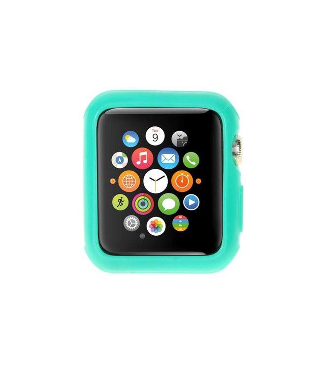 ZWC Apple Watch Beschermende Gel Cover (38mm) - Cyaan