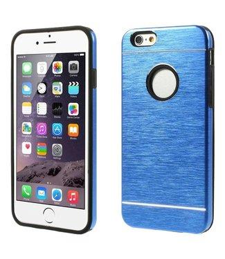 Geborsteld Aluminium/TPU Hardcase iPhone 6(s) - Blauw