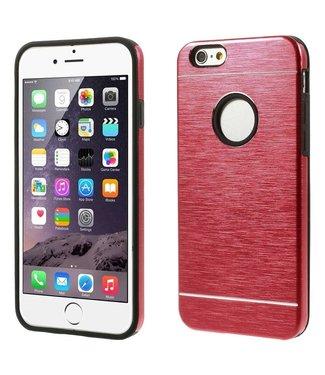 Geborsteld Aluminium/TPU Hardcase iPhone 6(s) - Rood