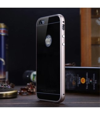Luphie Luphie Aluminium/Glas Hardcase iPhone 6(s) - Zwart/Goud