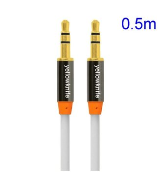 YellowKnife 3.5mm Aux Kabel - Wit