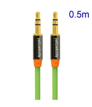 YellowKnife YellowKnife 3.5mm Aux Kabel - Groen
