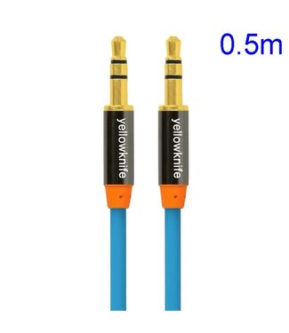 YellowKnife YellowKnife 3.5mm Aux Kabel - Blauw