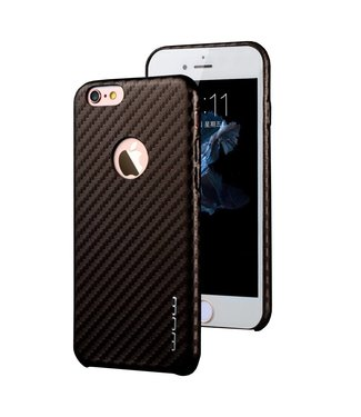 JLW JLW PU Leren Carbon Softcase iPhone 6(s) plus - Bruin