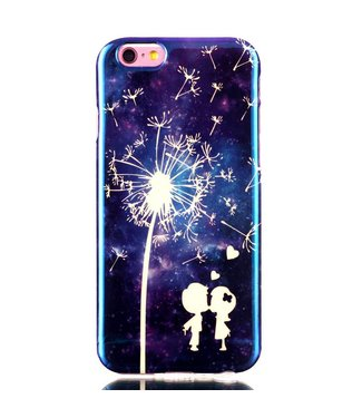 Blu-ray IMD TPU Softcase iPhone 6(s) - Paardenbloem