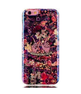 ZWC Blu-ray IMD TPU Softcase iPhone 6(s) - Whatever Bloemen