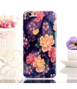 Blu-ray IMD TPU Softcase iPhone 6(s) - Roze Bloemen