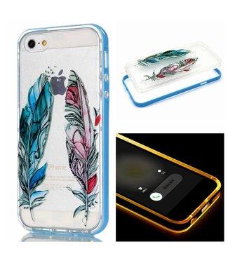 ZWC LED TPU/Plastic Backcase iPhone 5(s)/SE - Veren