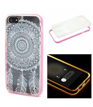 ZWC LED TPU/Plastic Backcase iPhone 5(s)/SE (2016) - Dreamcatcher Wit