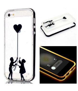 LED TPU/Plastic Backcase iPhone 5(s)/SE - Kinderen Ballon